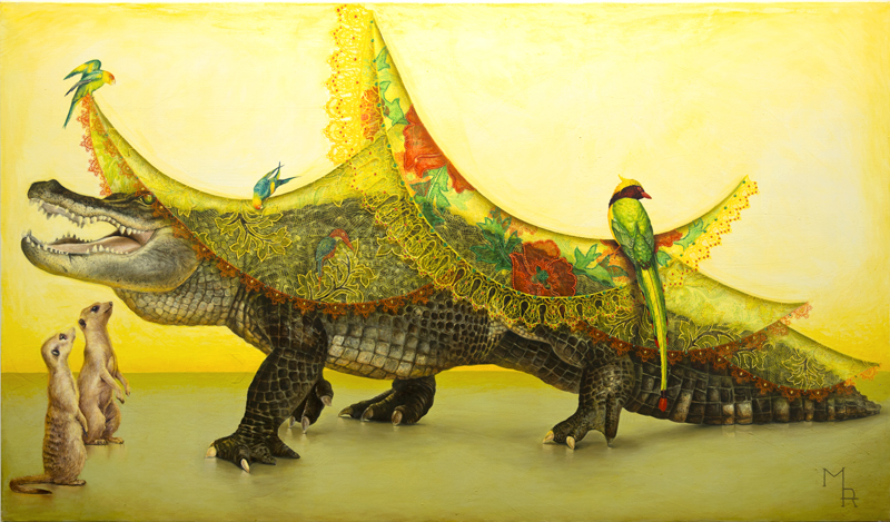 aligator painting