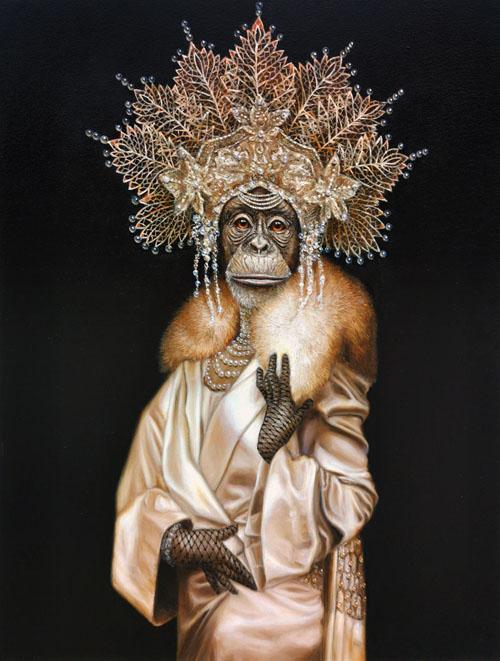 chimpanzee painting