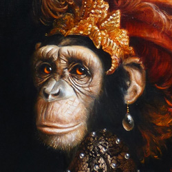 monkey portrait painting