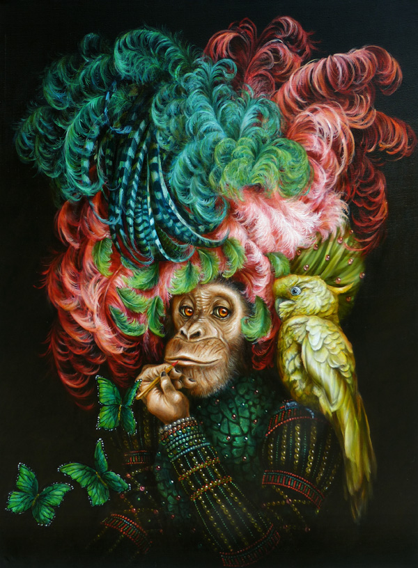 chimpanzé painting