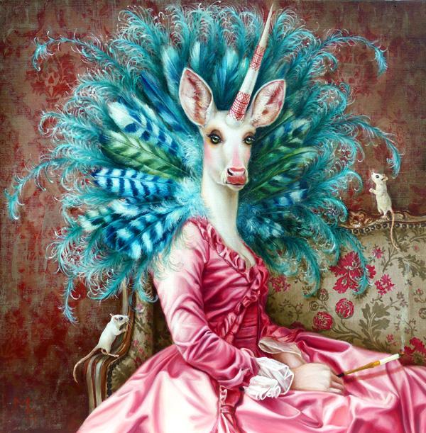 licorne peinture contemporain
