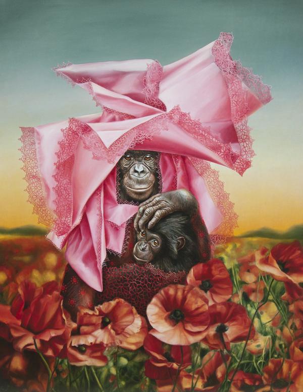 bonobo painting