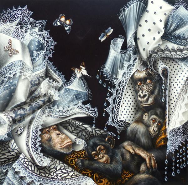 monkeys portrait