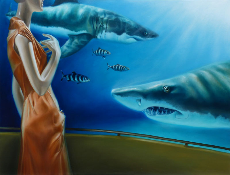 sharks painting